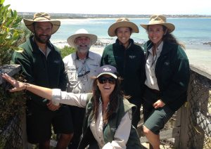 from L-R : Tim Smith - Seasonal Ranger Apollo Bay, Gary Summers- Apollo Bay Danni Rizzo (front) – Queenscliff  Alyssa Giffin –Anglesea Nicole Filby -Queenscliff